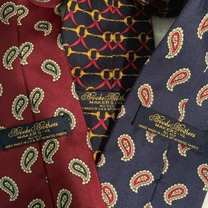 Brooks Brothers Accessories - Brooks Brothers XL Men's Ties. Lot Of 3.